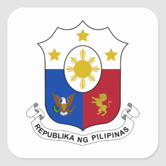 Philippines Coat of Arms Square Sticker