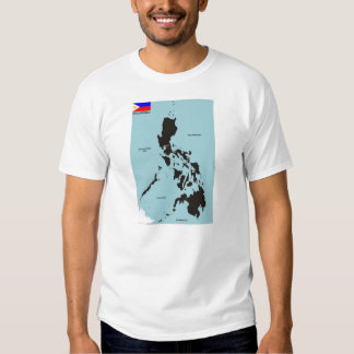 Philippines country political map flag t shirt