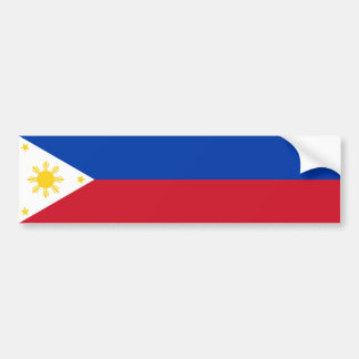 Philippines/Filipino Flag Bumper Sticker