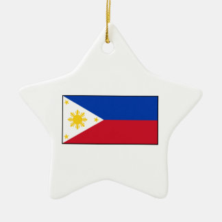 Philippines – Filipino Flag Ceramic Star Ornament