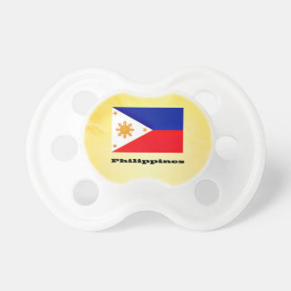 Philippines, flag and text pacifier