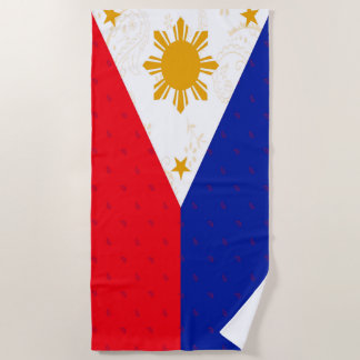 Philippines Flag Beach Towel