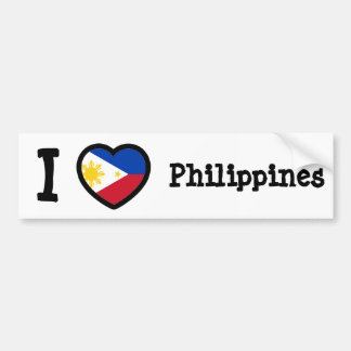Philippines Flag Bumper Sticker
