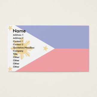 Philippines Flag Business Card