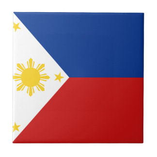 Philippines Flag Ceramic Tile