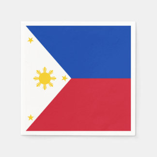 Philippines Flag Disposable Napkins