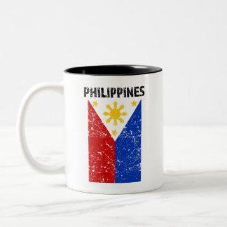 Philippines Flag -Distressed coffee mug