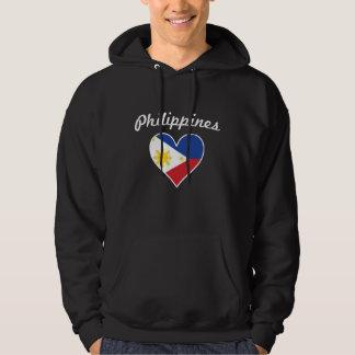 Philippines Flag Heart Hoodie