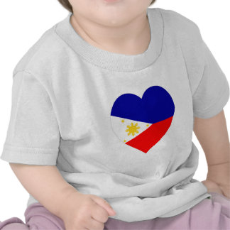 Philippines Flag Heart Shirts