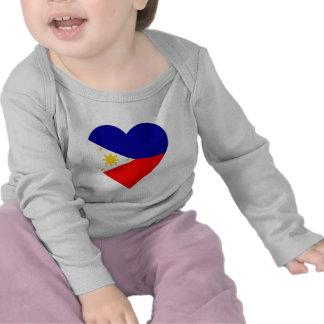 Philippines Flag Heart Tshirt