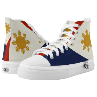 Philippines flag hightops shoes. high tops