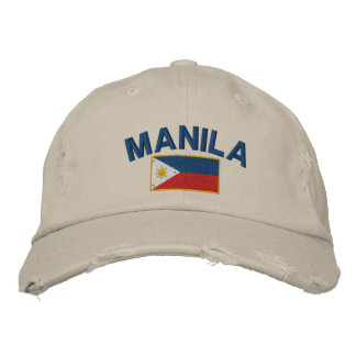 Philippines Flag Manila Embroidered Hat