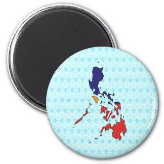 Philippines Flag Map full size Fridge Magnets