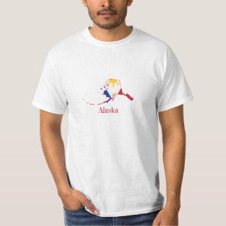 Philippines flag over Alaska map Tee Shirt