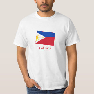 Philippines flag over Colorado map T-Shirt