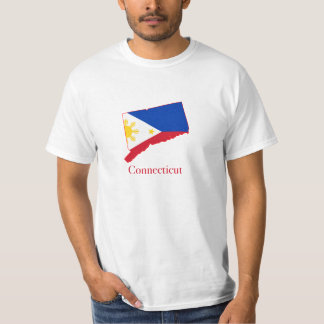 Philippines flag over Connecticut map T-Shirt