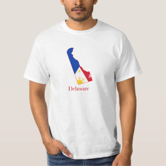 Philippines flag over Delaware map T-Shirt