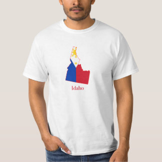 Philippines flag over Idaho map Shirt