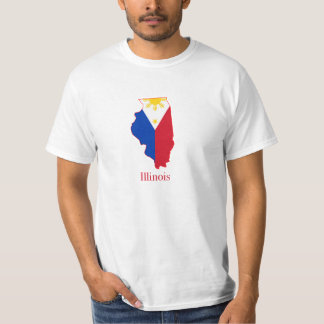 Philippines flag over Illinois map T-Shirt