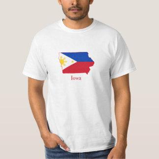Philippines flag over Iowa map T-Shirt