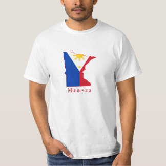 Philippines flag over Minnesota map T-Shirt