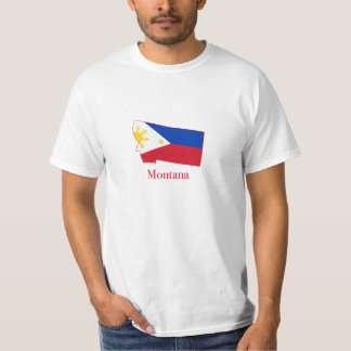 Philippines flag over Montana map T-Shirt