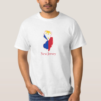 Philippines flag over New Jersey map T-shirt