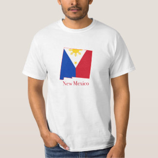 Philippines flag over New Mexico map T-Shirt