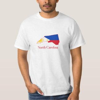 Philippines flag over North Carolina map T-Shirt