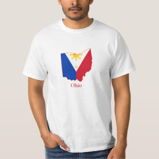 Philippines flag over Ohio map Tees