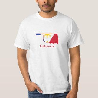 Philippines flag over Oklahoma map Tshirt