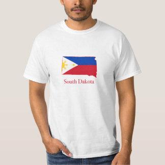 Philippines flag over South Dakota map T-Shirt