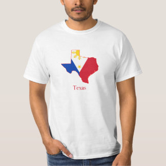 Philippines flag over Texas map Tshirts