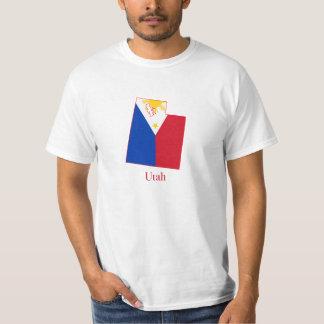 Philippines flag over Utah map T-Shirt