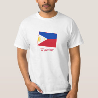 Philippines flag over Wyoming map T-Shirt