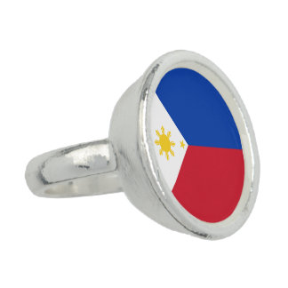 Philippines Flag Photo Rings