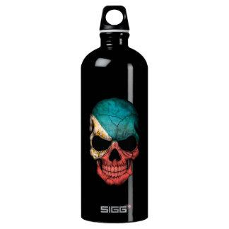 Philippines Flag Skull Water Bottle