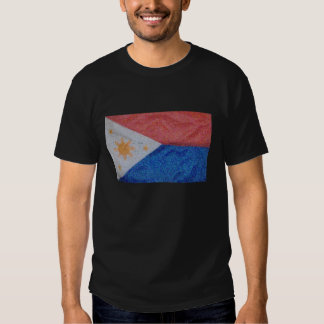Philippines flag Van Gogh style Tee Shirts