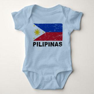 Philippines Flag Vintage Baby Bodysuit