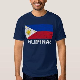 Philippines Flag Vintage T-shirt