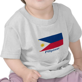 Philippines Flag with Name in Filipino Tee Shirts