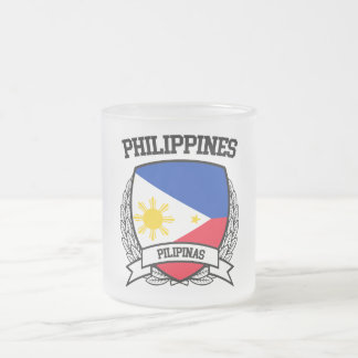 Philippines Frosted Glass Coffee Mug