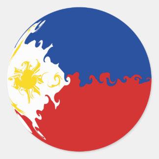 Philippines Gnarly Flag Classic Round Sticker