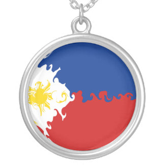 Philippines Gnarly Flag Personalized Necklace