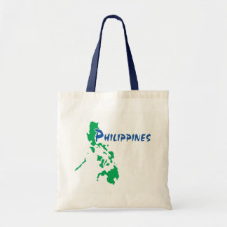 Philippines Map on a Tote Bag