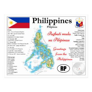 Philippines map Postcard