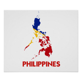 PHILIPPINES MAP POSTER