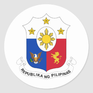 Philippines Official Coat Of Arms Heraldry Symbol Round Sticker