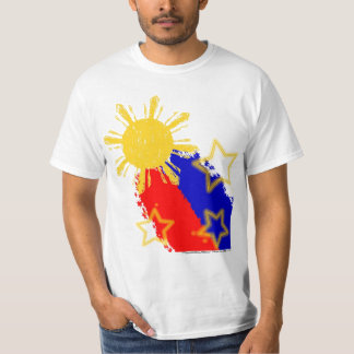 Philippines shooting Sun and starts Flag Tshirts