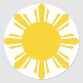 Philippines Sun by AiReal Apparel Classic Round Sticker